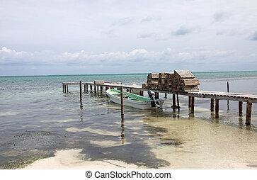 Caye Caulker, Belize - Dock in Caye Caulker, Belize