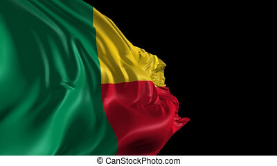 Flag of Benin - Beautiful 3d animation of the Benin flag...