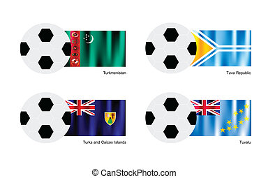 Football with Turkmenistan, Tuva, Turks and Caicos Islands...