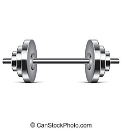Metal dumbbell vector illustration - Metal dumbbell isolated...