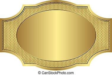 gold frame - gold vintage frame