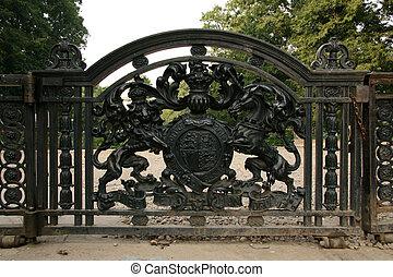 hierro, puerta, -, victoria, monumento conmemorativo,...