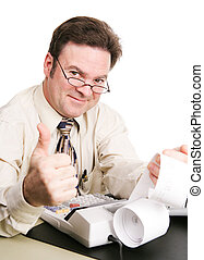 Tax Accountant Giving Thumbs Up - Tax accountant with his...