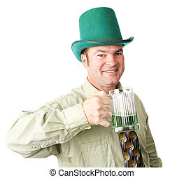 Irish American Man on St Patricks Day - Handsome Irish...