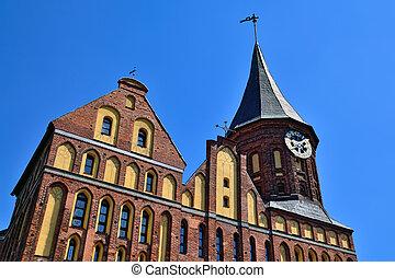 Koenigsberg Cathedral. Kaliningrad (until 1946 Koenigsberg)...