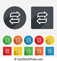 Rotation icon Repeat symbol Refresh sign Circles and rounded...