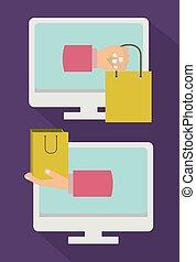 digital design over purple background vector illustration