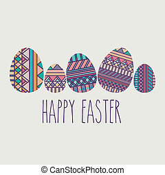 happy easter over   background vector illustration