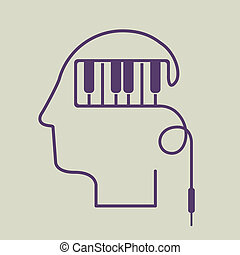 think,design - think design over beige background vector...
