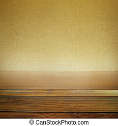 Tabletop - Empty tabletop and blank brown background