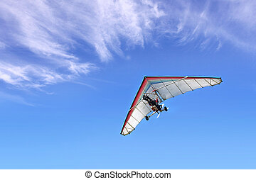 Motorized hang glider - The motorized hang glider in the...