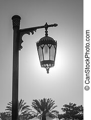 An old street lamppost - Street lamp against sky -...