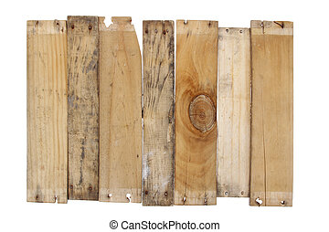 Wooden planks - Closeup of wooden boards on plain background