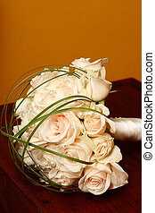 Wedding Flowers - Wedding Bouquet with cream roses and...
