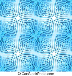 Abstract maze background - Abstract blue background with...