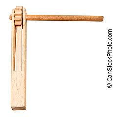 treshchotka clapper russian musical instrument - treshchotka...