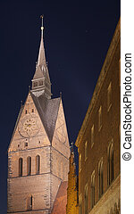Marktkirche in Hannover, Germany - Marktkirche Marketplace...