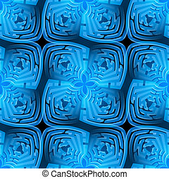 Abstract maze background - Abstract background with blue...