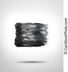 Paint - Black and grey paint texture on plain background
