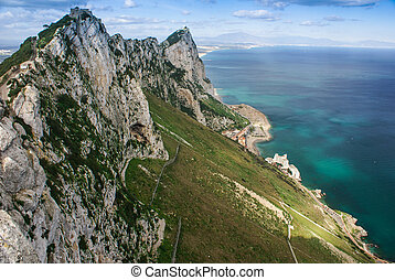 View of the Gibraltar rock from the