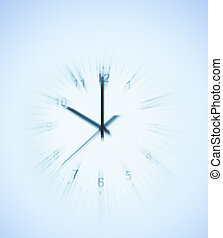 Clock - Blurred motion of clock face