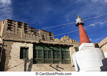 Traditional Building - Leh, India - Leh in Ladakh - the far...