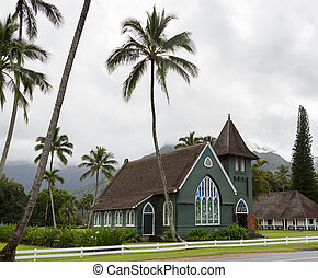 Waioli Huiia Mission Church in Hanalei Kauai - The old...