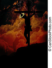 Jesus hanging on the cross - The Crucifixion of Jesus Christ...