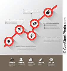 Time line circle icons long shadows Can use for info graphic...
