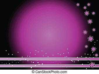Purple flower background