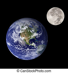 earth and moon - Earth and moon like mother and daughter in...