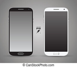 Smartphones vector black and white. Can use for background...