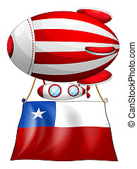 A stripe-colored balloon with the flag of Chile