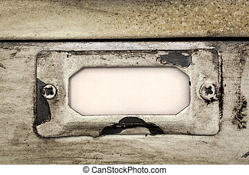 Vintage Filing Cabinet Drawer Label