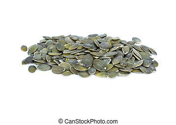 Pile of shelled pumpkin seeds