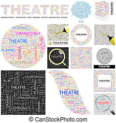 Theatre Concept illustration - Theatre Word cloud...