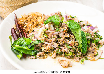 Larb Duck with spicy taste ,thai food