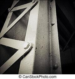 Steel girder - Closeup of a steel girder