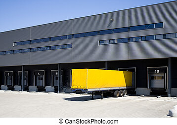 Loading docks - Loading bay for loading and unloading trucks