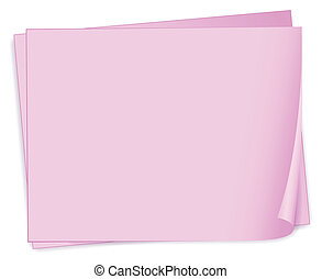 Empty pink papers - Illustration of the empty pink papers on...