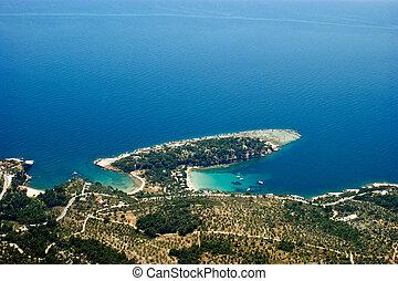 Alyki bay, Thassos, Greece - Alyki bay at Thassos island,...