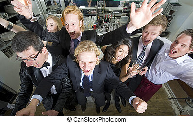 people celebrating an event - a group of peopleyoung adults...