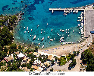 Palaiokastritsa port, Corfu, Greece - Palaiokastritsa port...