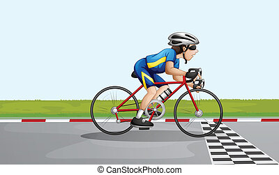 A male racer - Illustration of a male racer