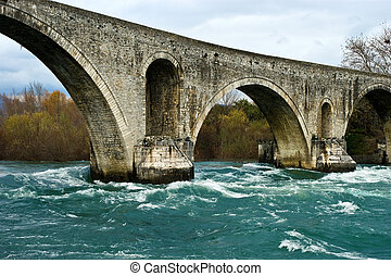 Roman stone bridge - Old Roman stone bridge in Arta, Greece