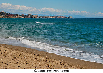 Fuengirola - Beach in Fuengirola, a village in the province...