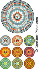 Mandala - Colorful abstract mandala vector design