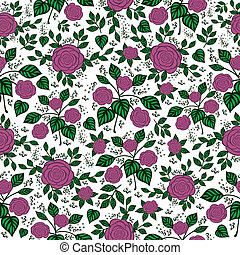 Seamless floral background - Illustration of seamless floral...