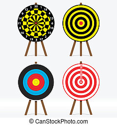 Targets - vector set of four different targets