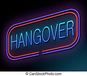 Hangover concept. - Illustration depicting an illuminated...